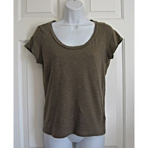 Forever 21 Super Soft Scoop Neck Tee Taupe L